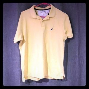 Nautica button down shirt, yellow and blue